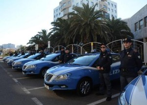 Reparto prevenzione crimine Polizia Abbasanta nuove auto