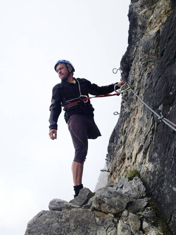 Oliviero Bellinzani, incredibile alpinista senza una gamba