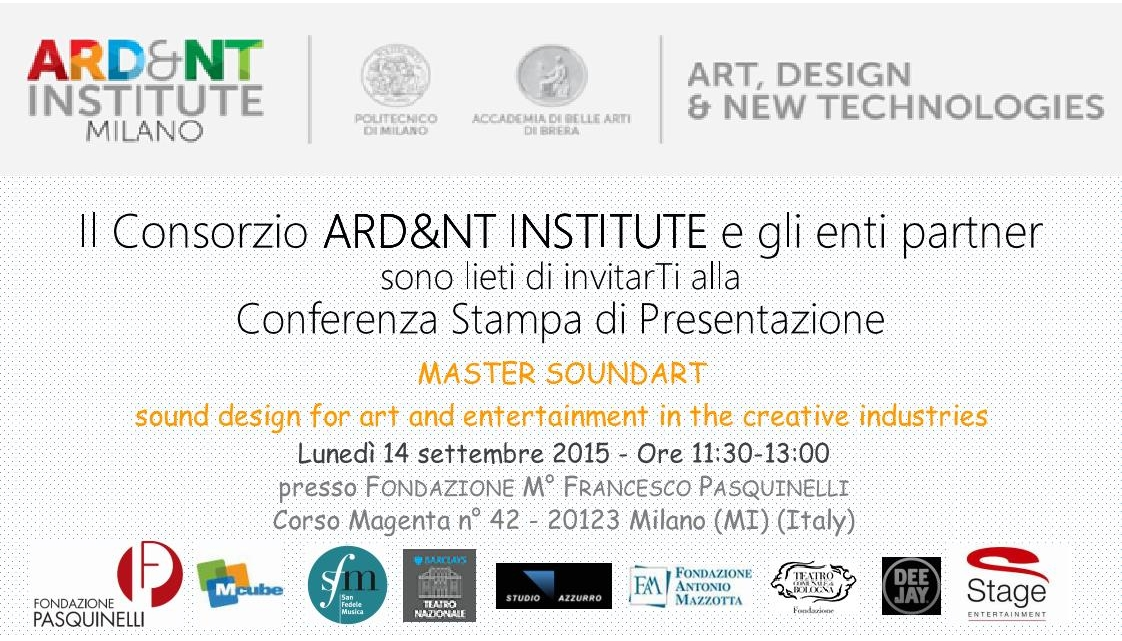 Un nuovo master dell'Accademia di Brera e del Politecnico di Milano sul SOUNDART sostenibile