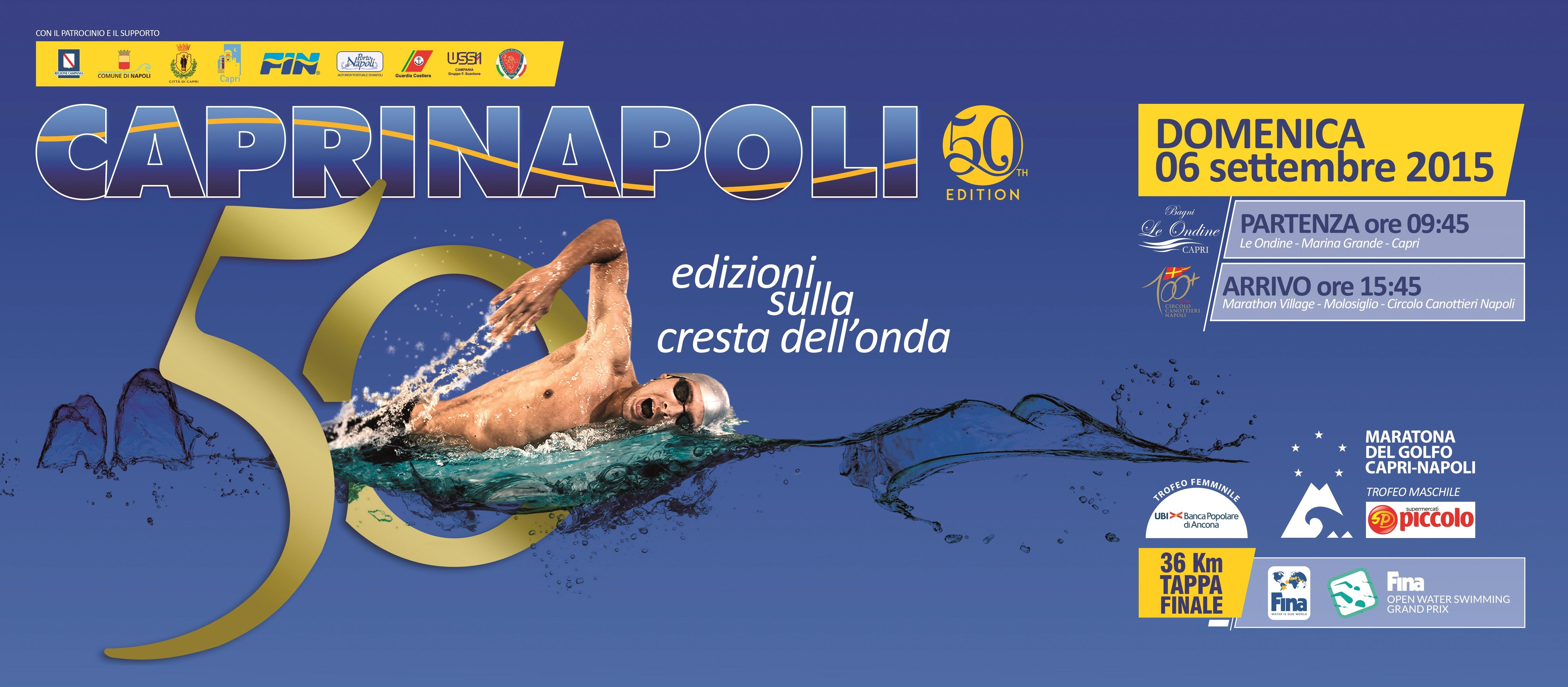 Tutto pronto per la Capri -Napoli. Domenica 6 settembre il via al 50esima edizione