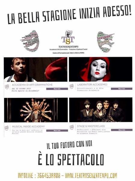 """""""TeatroSenzaTempo"""" Accademia di Arti Drammatiche, riaperte le iscrizioni"""