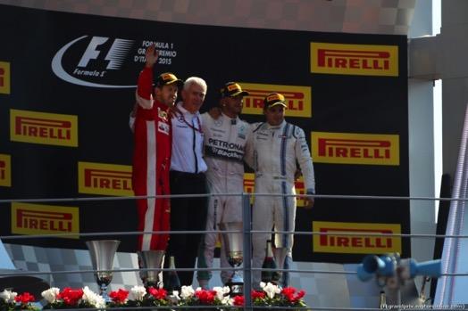 GP d'Italia, Hamilton domina, Ferrari seconda