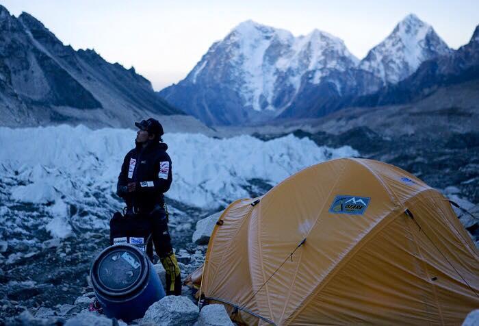 Kuriki alle pendici dell'Everest