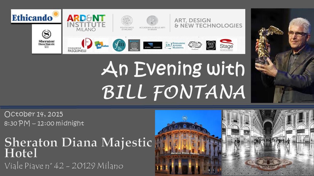 Grande successo dell'evento allo Sheraton Diana Majestic con Bill Fontana