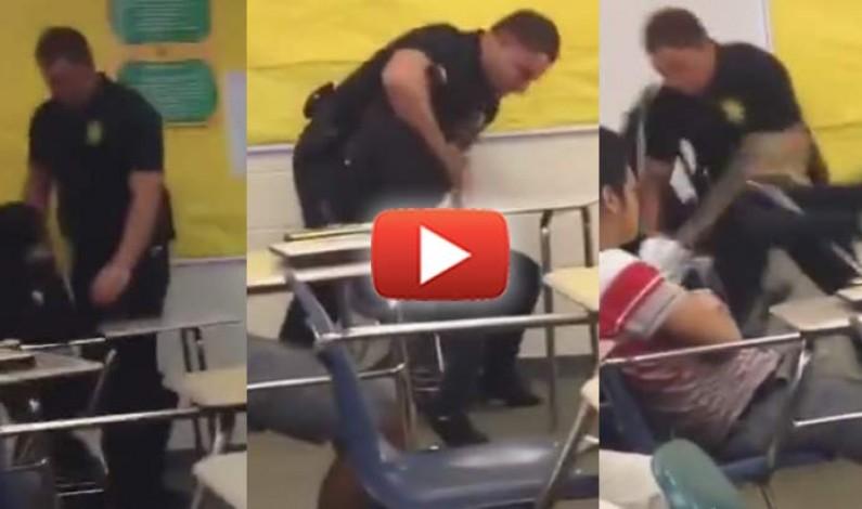USA: poliziotto colpisce brutalmente una studentessa afroamericana in classe