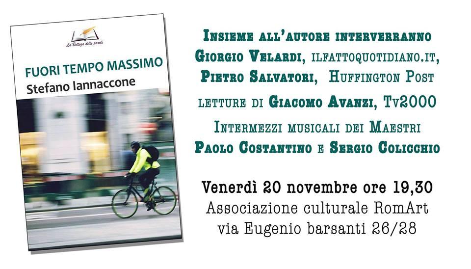 """Stefano Iannacone presenta """"Fuori tempo massimo"""""""