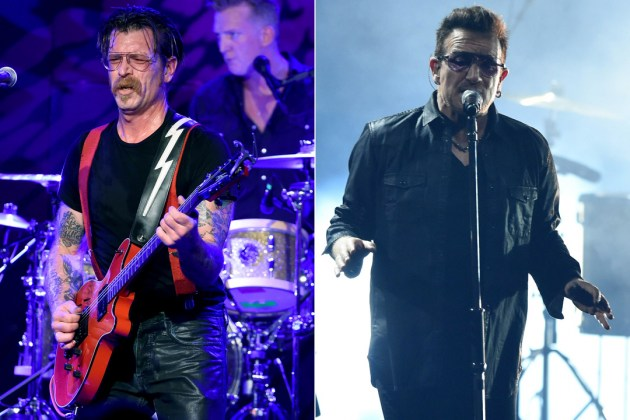 Gli U2 e gli Eagles of Death Metal insieme in concerto a Parigi