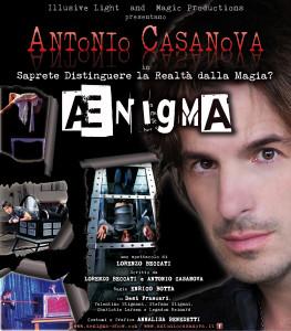 Antonio Casanova in Ænigma - la locandina dello spettacolo