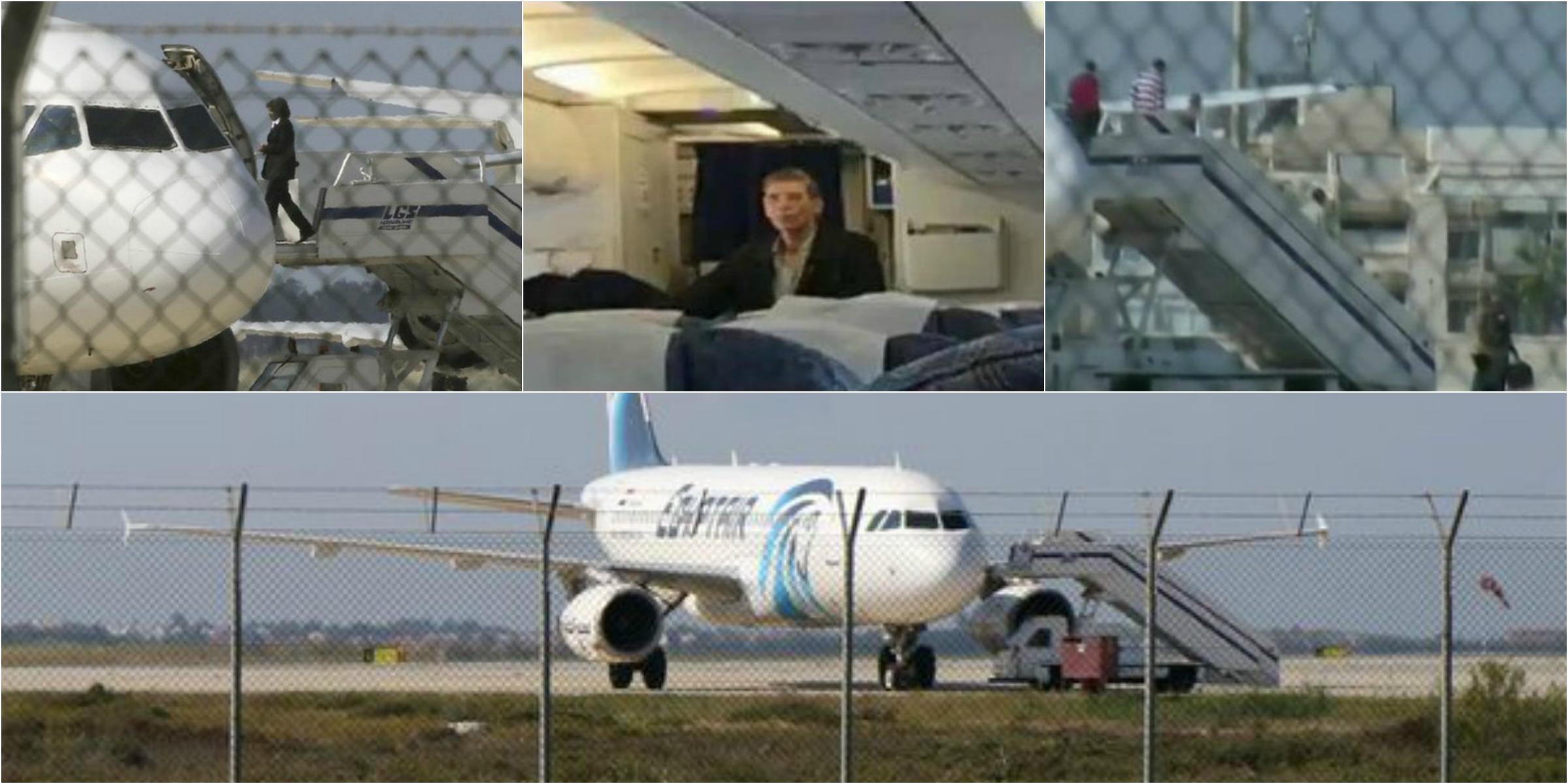 Aereo Egypt Air dirottato, l'uomo si è arreso