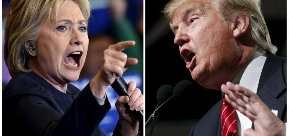 Primarie Usa, trionfano Hillary Clinton e Donald Trump