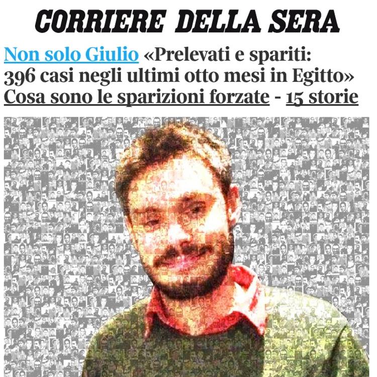 Il fotomontaggio del Corriere della Sera
