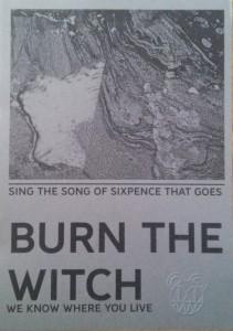 Una cartolina mandata dai Radiohead ai fans inglesi