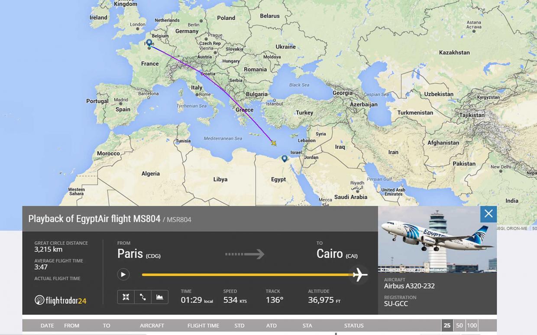 EgyptAir: proseguono le ricerche dell'Airbus A320