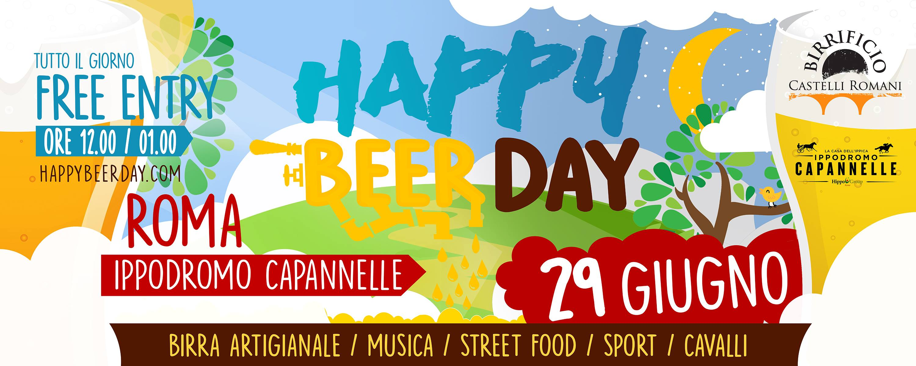 Il campione Gabriele Casella all'Happy Beer Day a Capannelle