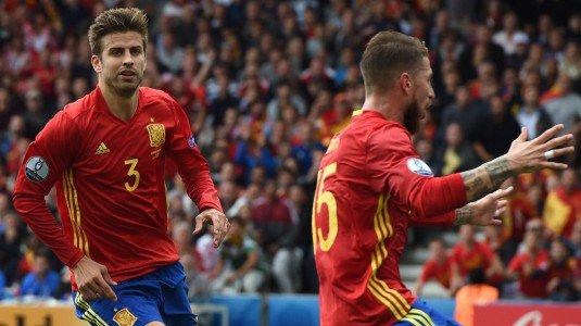 Spagna-Repubblica Ceca la decide Pique all'ultimo.