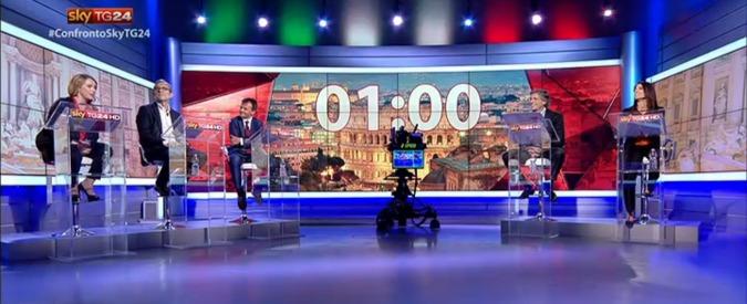 Roma, confronto candidati sindaci: Raggi contro tutti