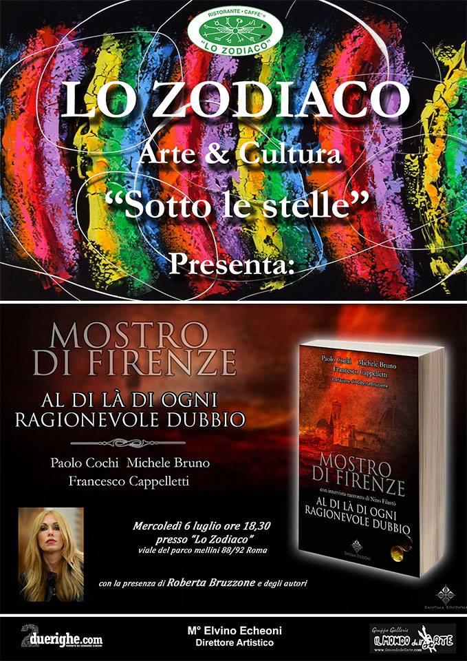 """Allo Zodiaco presentazione del libro: """"Mostro di Firenze – al di là di ogni ragionevole dubbio"""""""