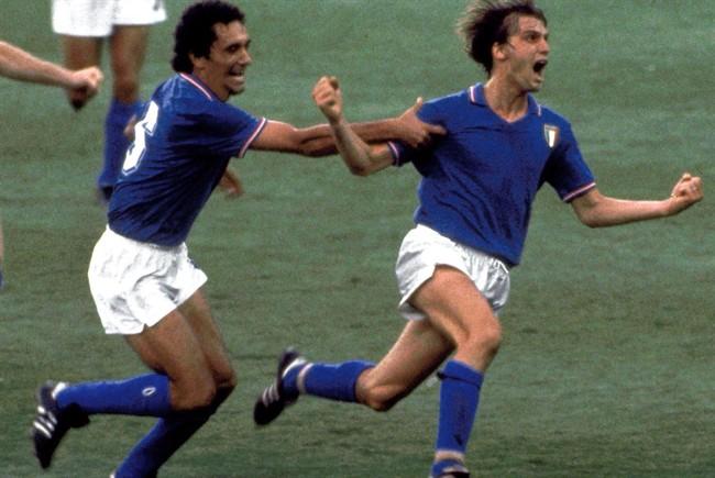 L'iconica esultanza di Marco Tardelli, decisivo con un goal contro la Germania, nella finale di Spagna '82.