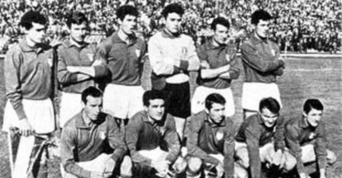 L'Italia che sfidò la Germania nel 1923: Trivellini, Caligaris, De Vecchi, Barbieri, Burlando, Aliberti, Migliavacca, Della Vacca, Cevenini III, Santamaria, Bergamino I.