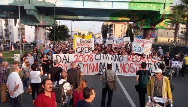 Chiaiano, proseguono le proteste contro l'apertura di una nuova discarica.