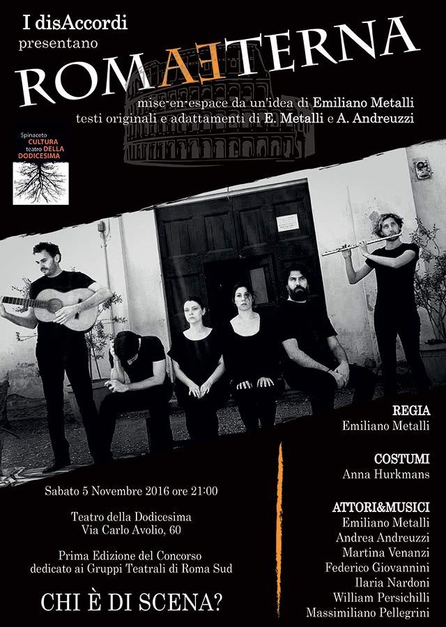 RomAEterna: uno spettacolo teatrale sulla Roma di ieri e di oggi
