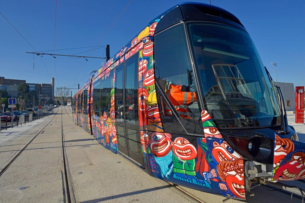 Un tram ad Aubagne, Francia. Fonte: aubagne.fr