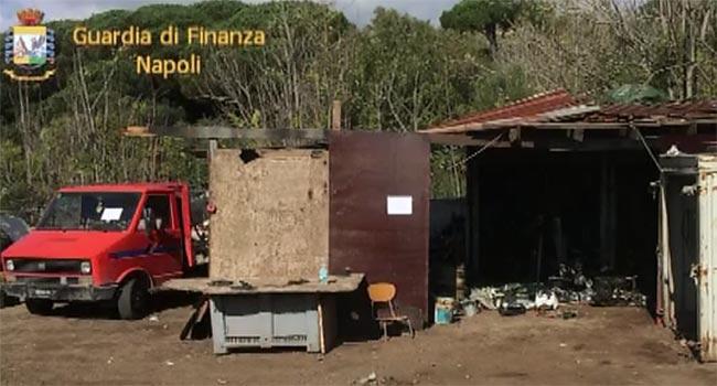 Sequestrata discarica abusiva nel Parco del Vesuvio
