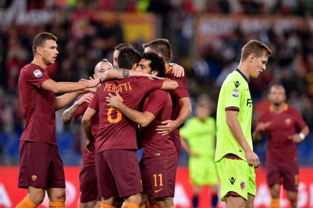 Tris egiziano: 3-0 della Roma contro il Bologna