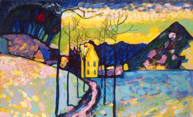 Vasilij Kandinskij – Paesaggio invernale, 1909