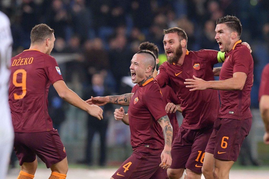 La Roma non perde il passo, Nainggolan stende il Milan