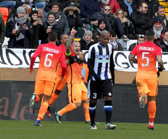 La Roma vince anche a Udine: 0-1 alla Dacia Arena