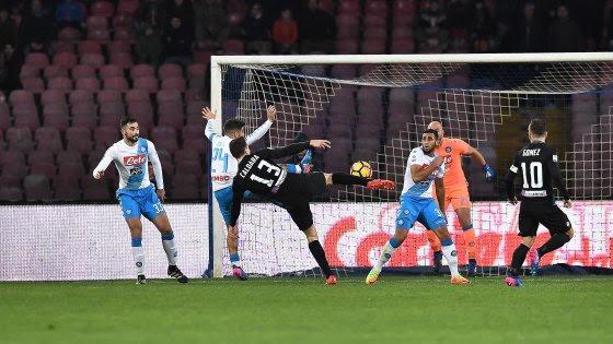 Tracollo Napoli : un super Caldara stende gli azzurri , è 0 a 2 al San Paolo