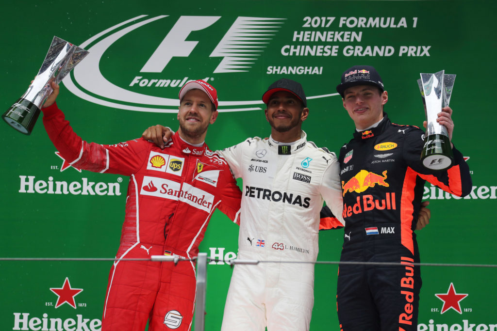 Gp Cina: Hamilton davanti a Vettel e Verstappen