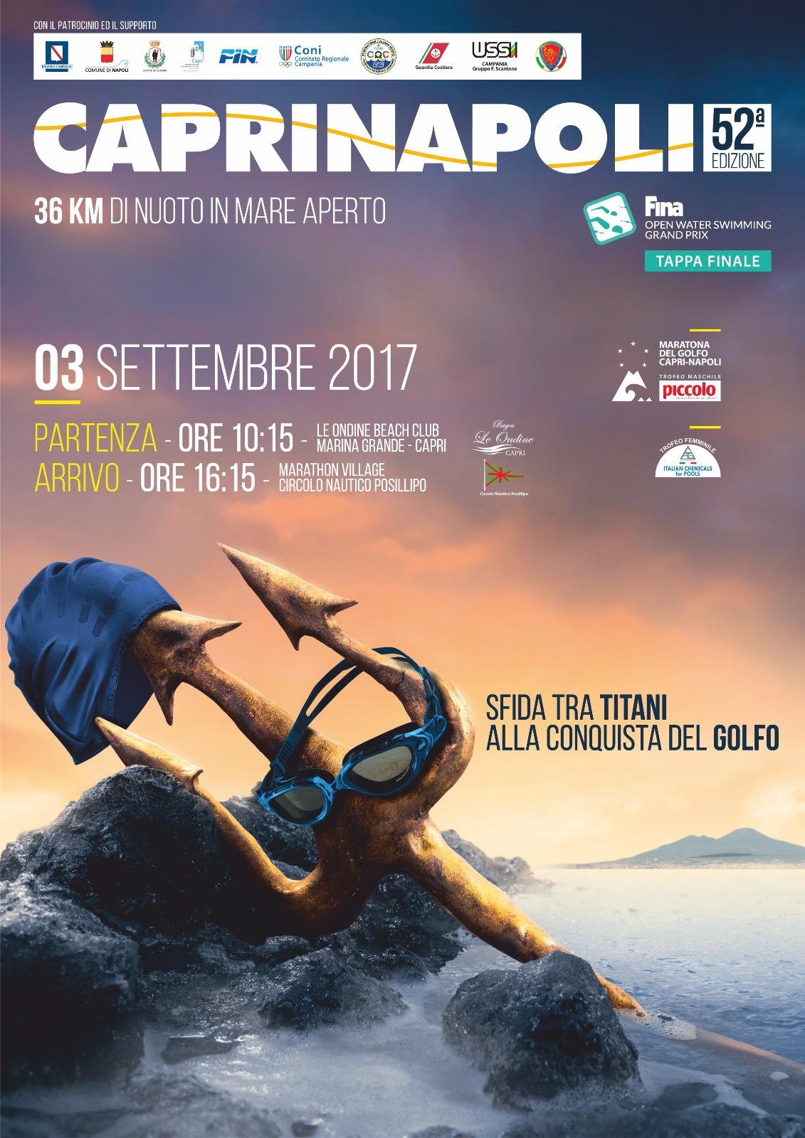 Nuoto: presentata la 52esima edizione della Capri- Napoli