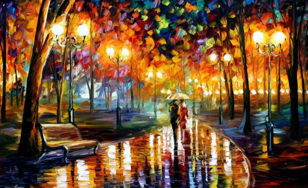 L'autunno di Leonid Afremov | Rains Rustle