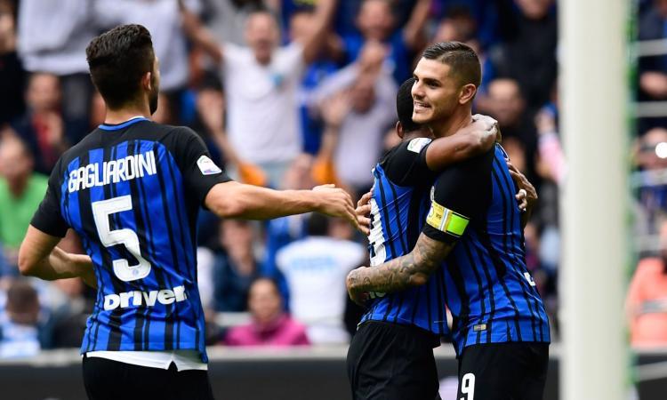 Icardi-Perisic, l'Inter va: Spal sconfitta 2-0