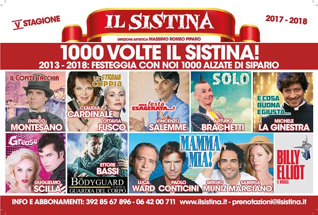Sistina, teatro a Roma con i prossimi eventi della stagione 2017-2018
