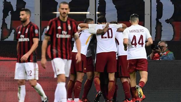 Milan – Roma 0-2, decidono Dzeko e Florenzi