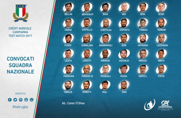 Rugby – 34 azzurri convocati per i raduni pre-test match di novembre