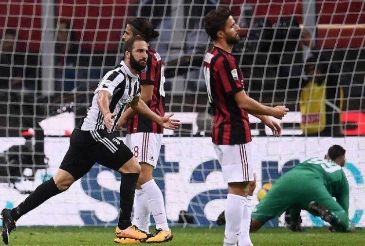 Milan – Juventus 0-2, Higuain affonda i rossoneri
