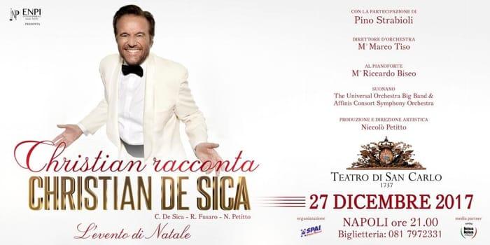 Strenna natalizia al Teatro San Carlo con Christian De Sica