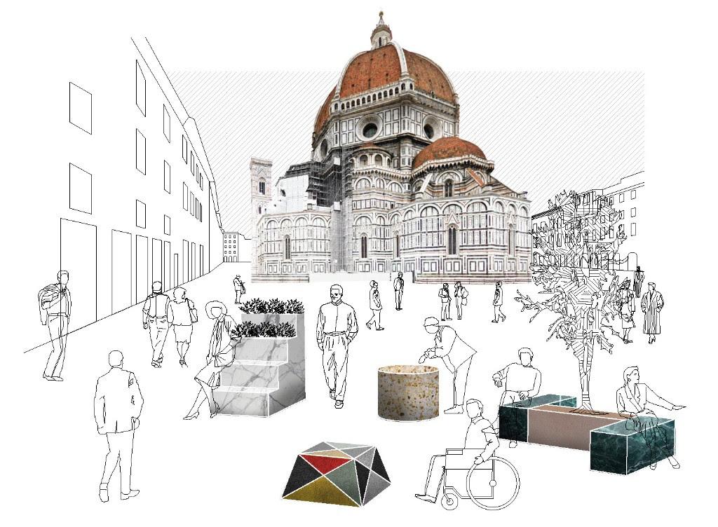#Florencecalling: idee per trasformare le barriere antiterrorismo in arredo urbano