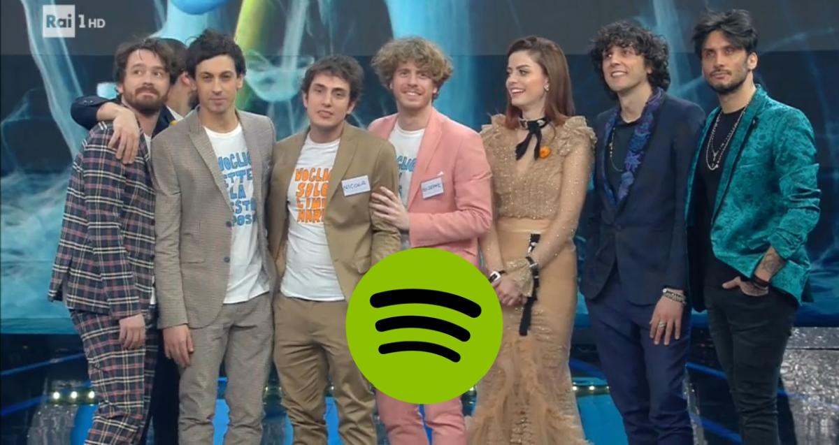 Sanremo 2018: Spotify svela il podio in anticipo con una playlist