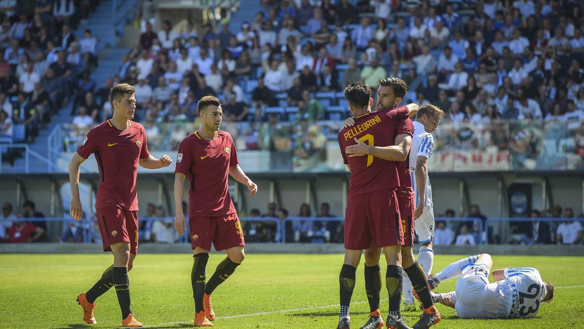 La Roma vince con la regola del 6: Spal- Roma 0-3