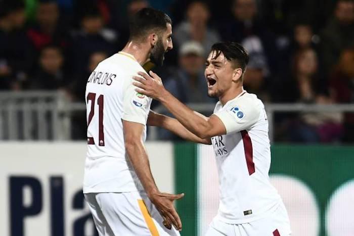 La Roma affonda il Cagliari e si avvicina alla Champions