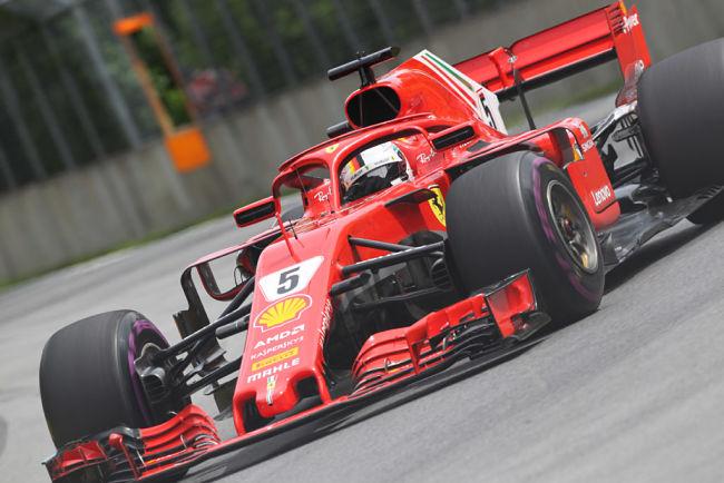 Gp Canada: assolo di Vettel che torna leader