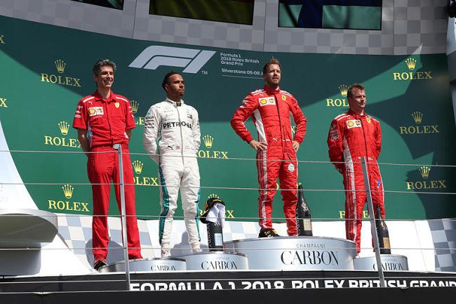 Gp Gran Bretagna: spettacolo puro, Vettel vince ed esalta con Hamilton e Raikkonen