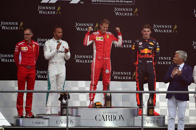 Tra Ungheria e Belgio si impongono Hamilton e Vettel