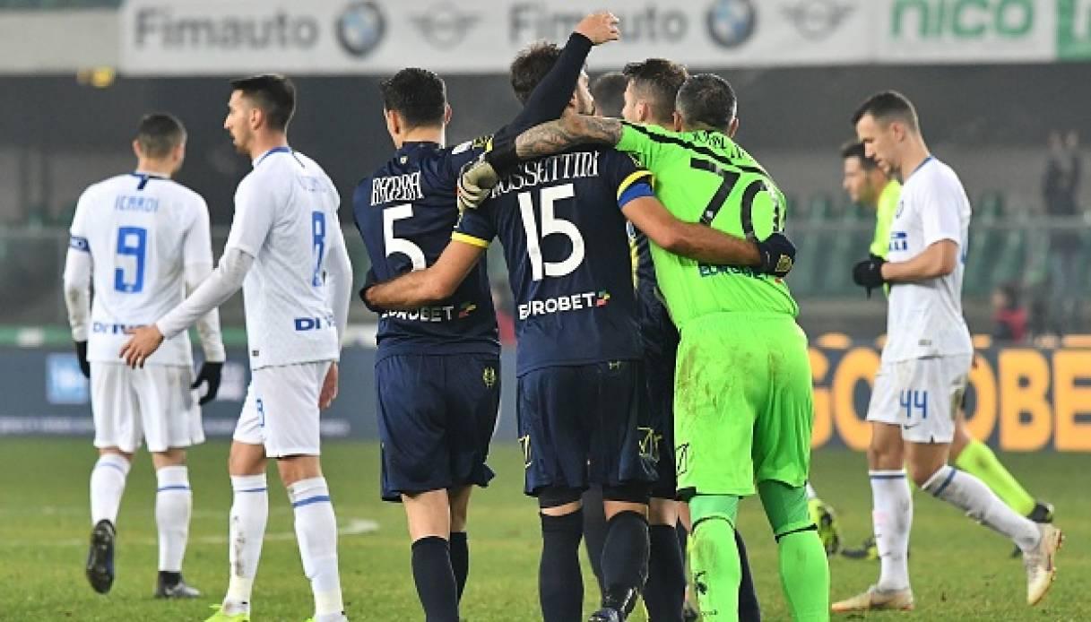 Inter beffata da Pellissier nel finale e il Chievo coglie un altro pari