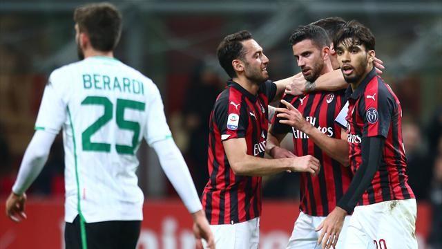 Milan inarrestabile, l'1-0 al Sassuolo vale il terzo posto